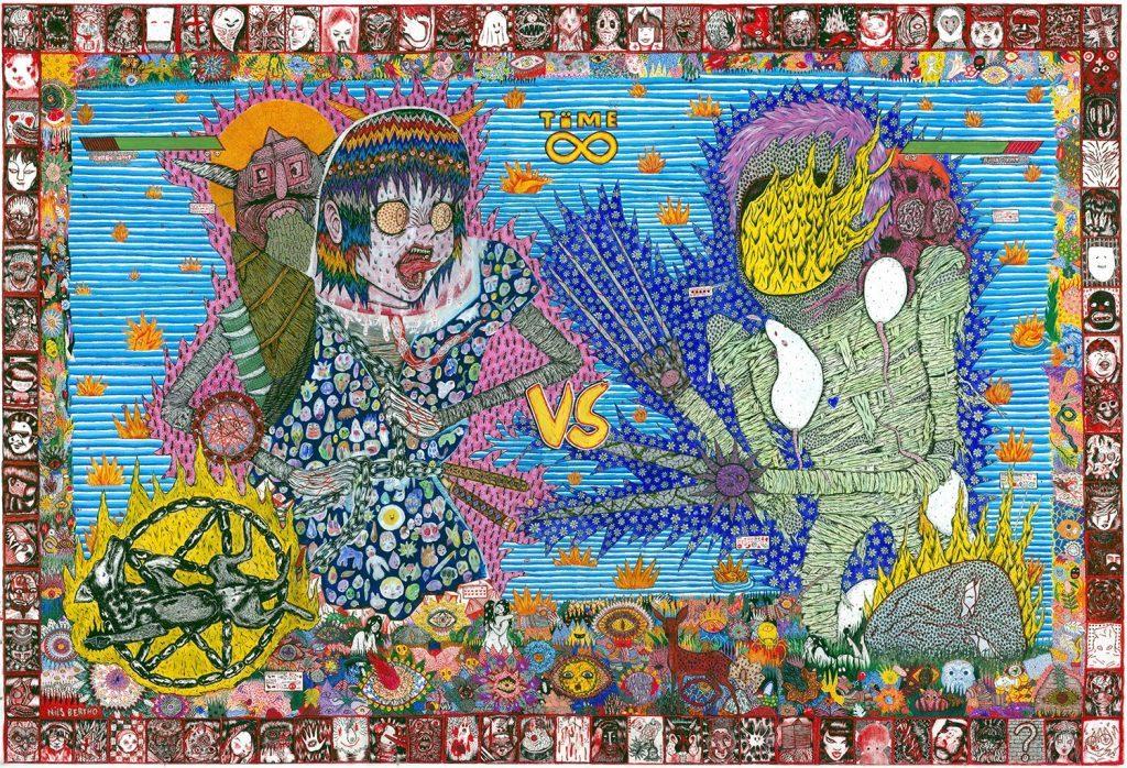 yokai-arena-nils-bertho-artiste-underground-montpellier-france-galerie-le-mat